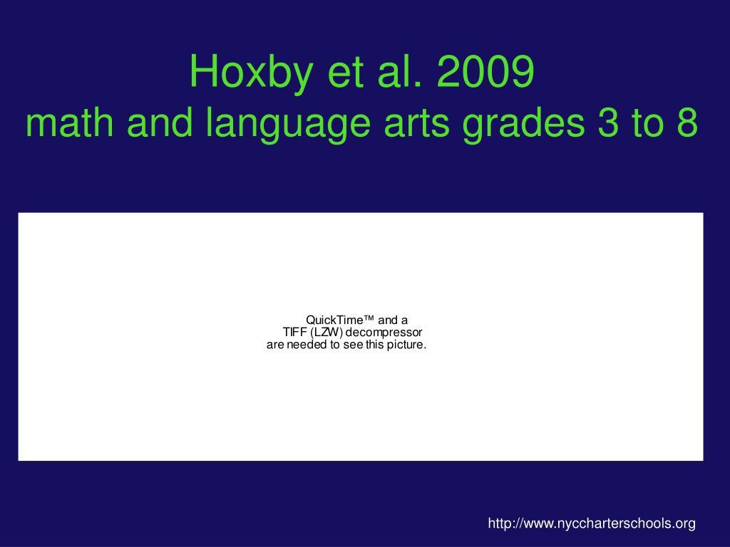 Hoxby et al. 2009