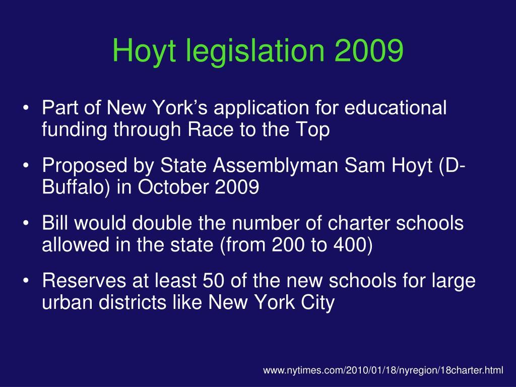 Hoyt legislation 2009