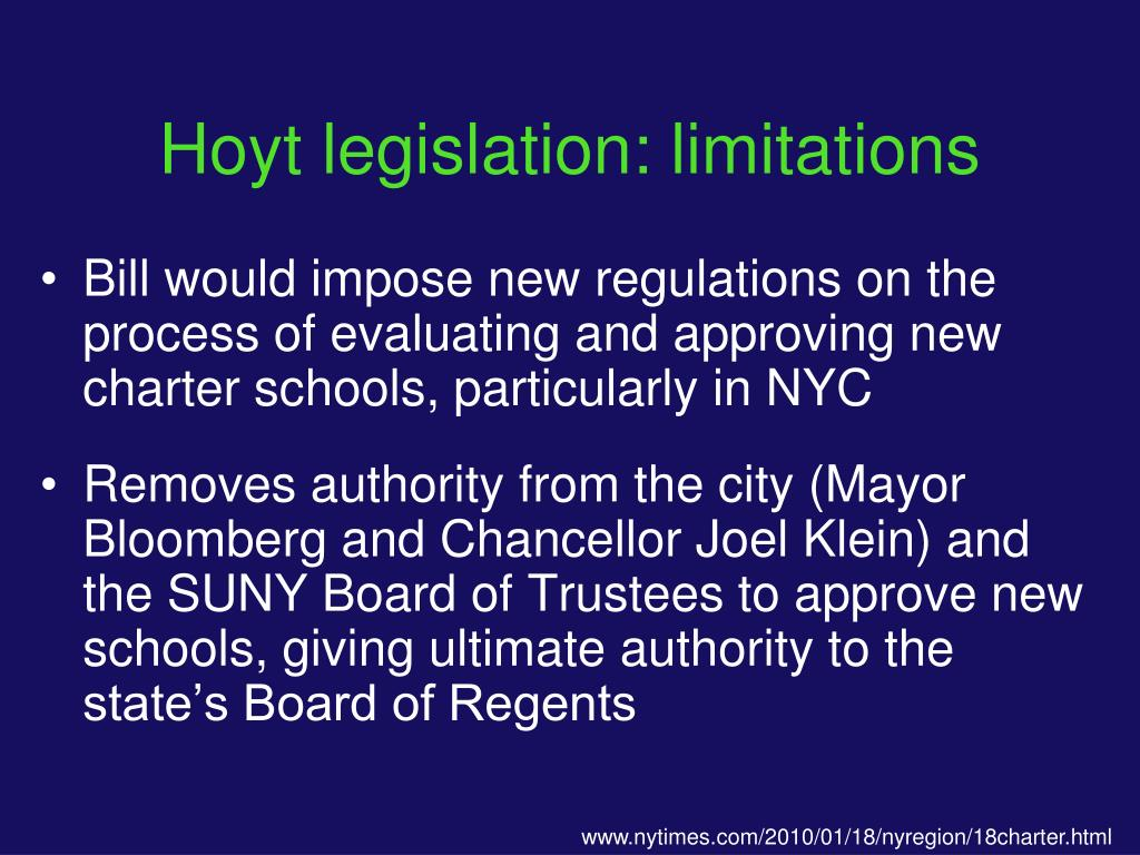 Hoyt legislation: limitations
