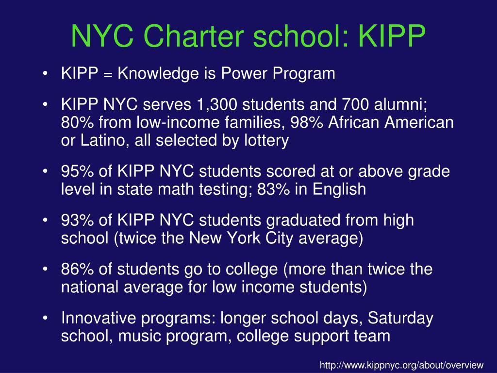 NYC Charter school: KIPP
