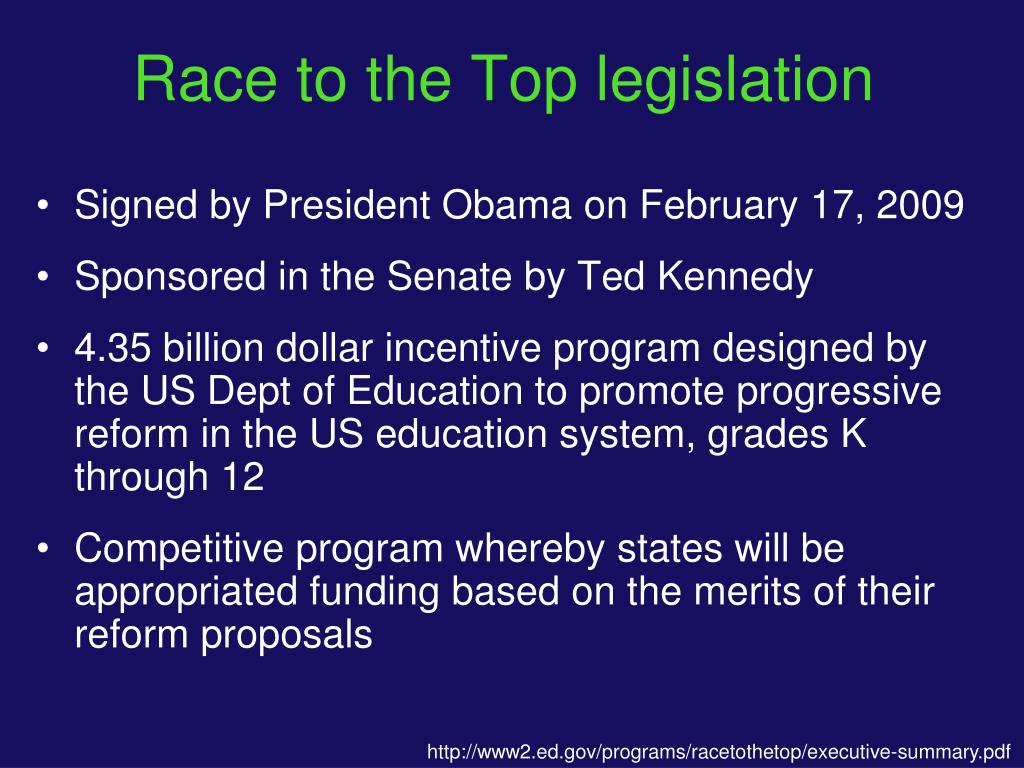 Race to the Top legislation