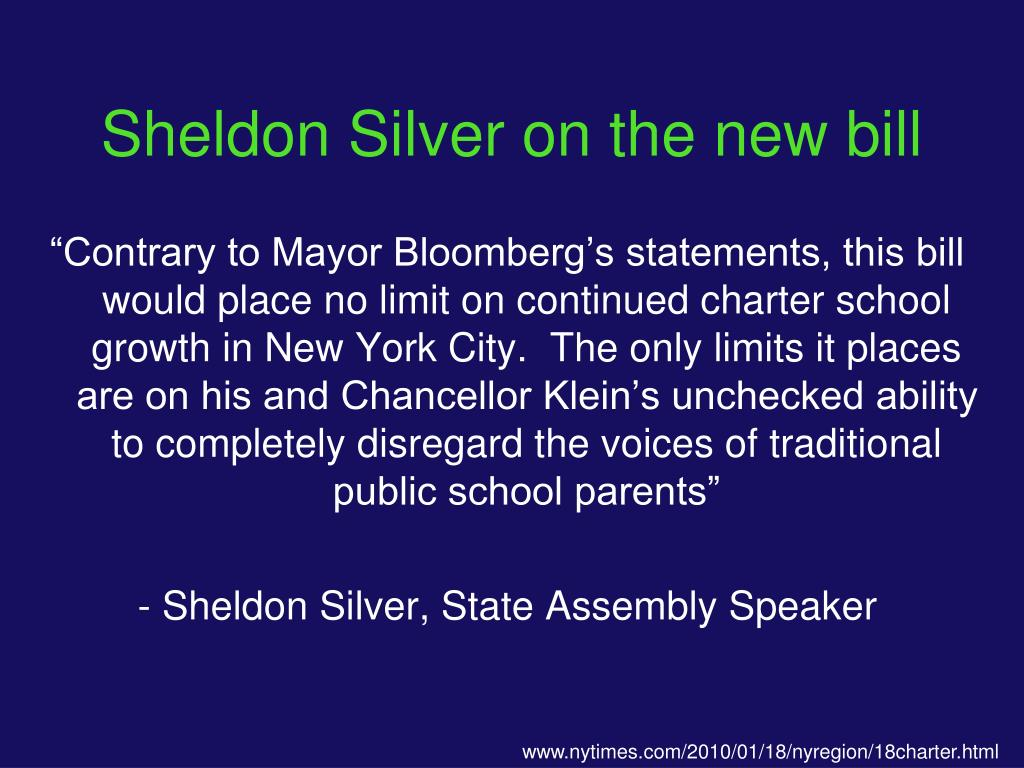 Sheldon Silver on the new bill