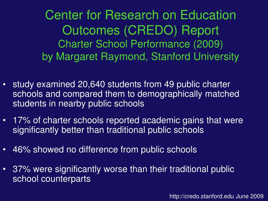 Center for Research on Education Outcomes (CREDO) Report