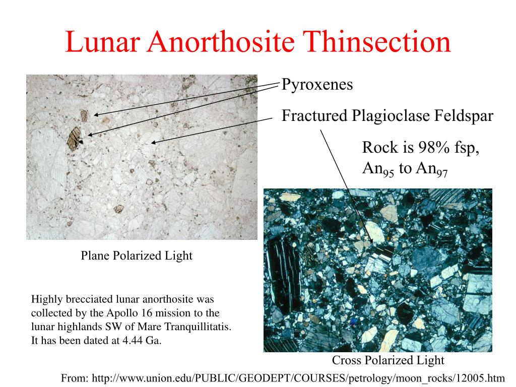 Lunar Anorthosite Thinsection