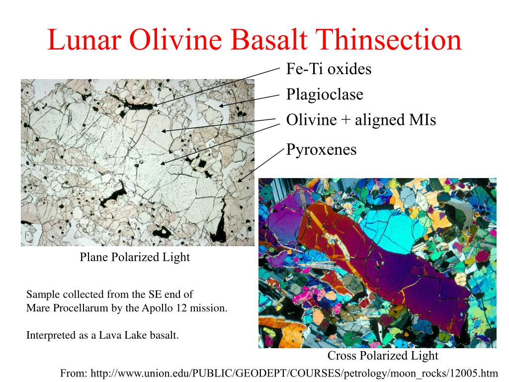 Lunar Olivine Basalt Thinsection