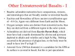 other extraterrestrial basalts i