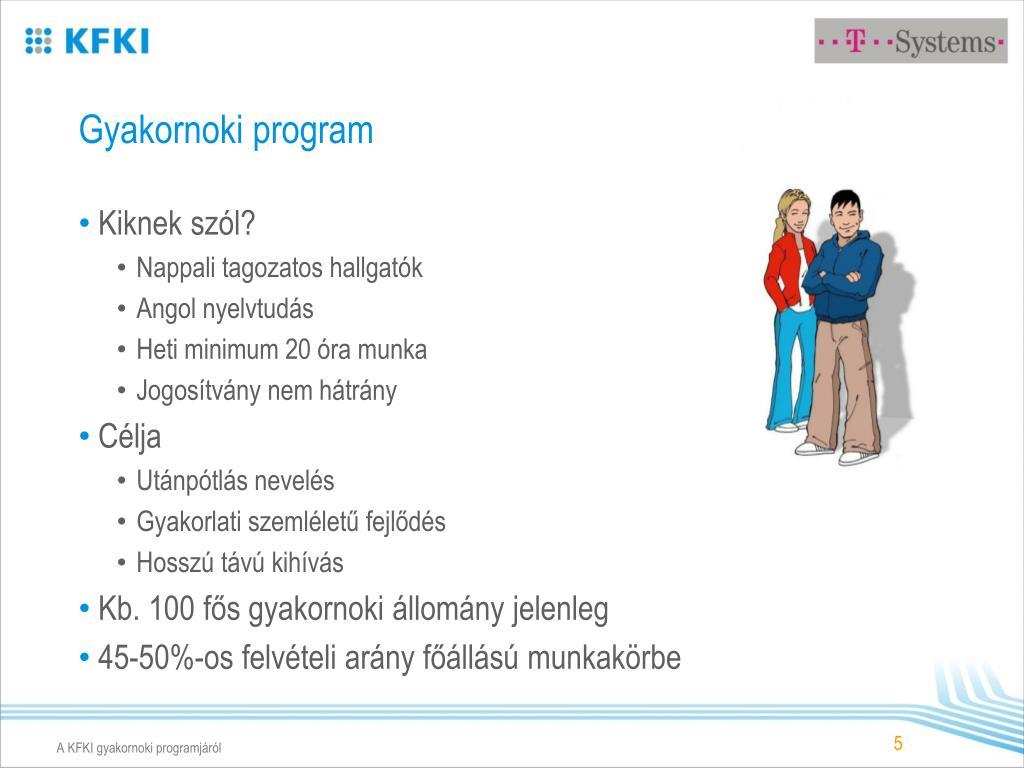 Gyakornoki program