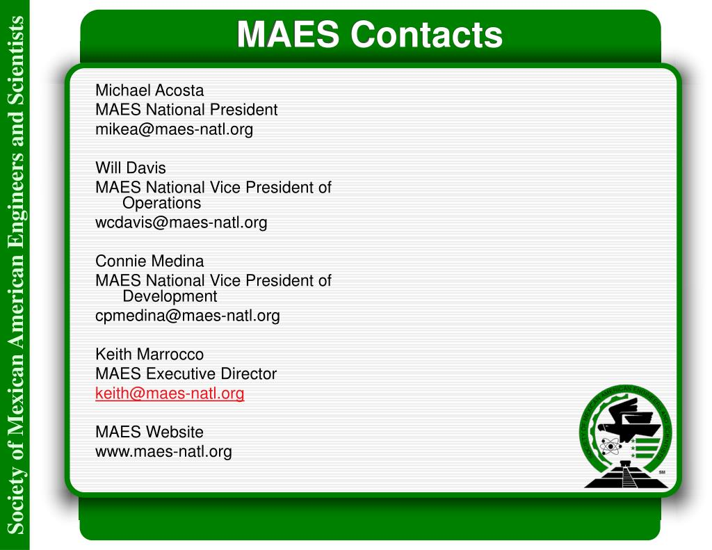 MAES Contacts
