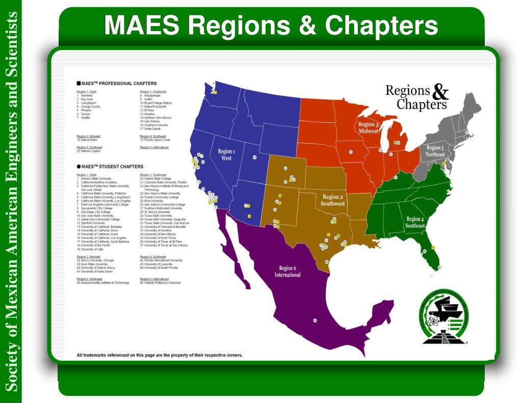 MAES Regions & Chapters