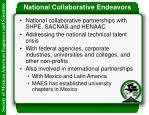 national collaborative endeavors