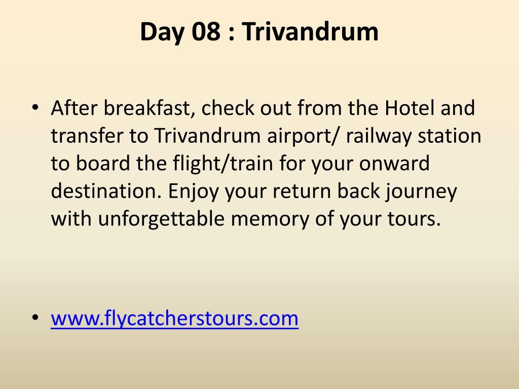 Day 08 : Trivandrum