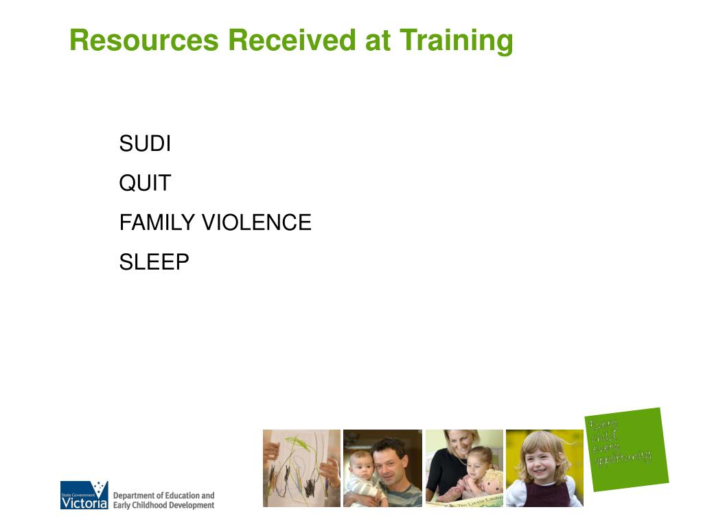 Resources Received at Training
