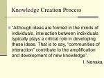 knowledge creation process