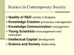 science in contemporary society4