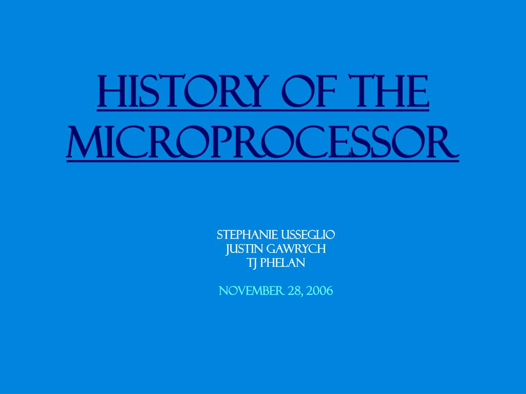the microprocessor Microprocessors are wondrous devices: they integrate the brain of a computer onto a single electronic component the computing power that once required a room full of.