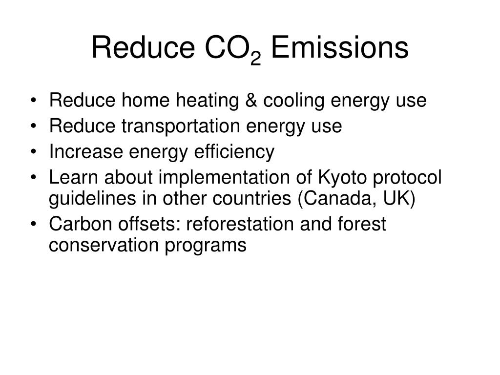 Reduce CO