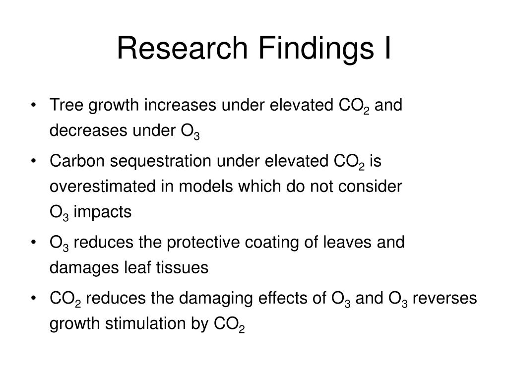 Research Findings I