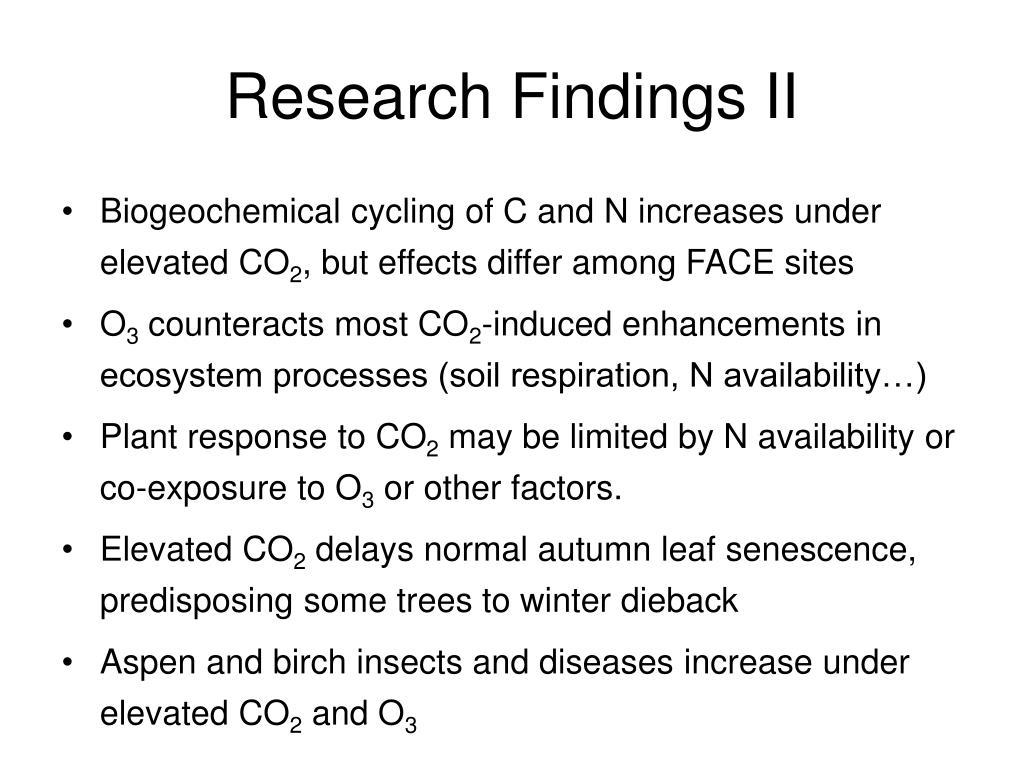 Research Findings II