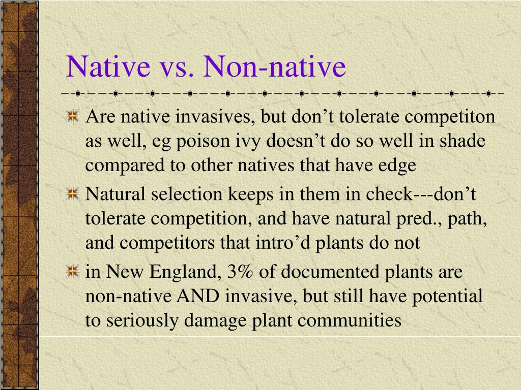 Native vs. Non-native