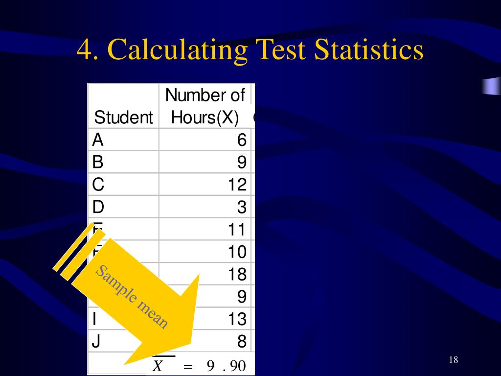 4. Calculating Test Statistics