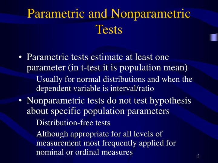 Parametric and nonparametric tests l.jpg