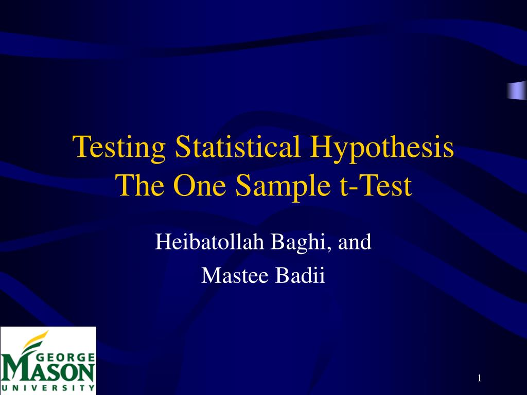 Testing Statistical Hypothesis