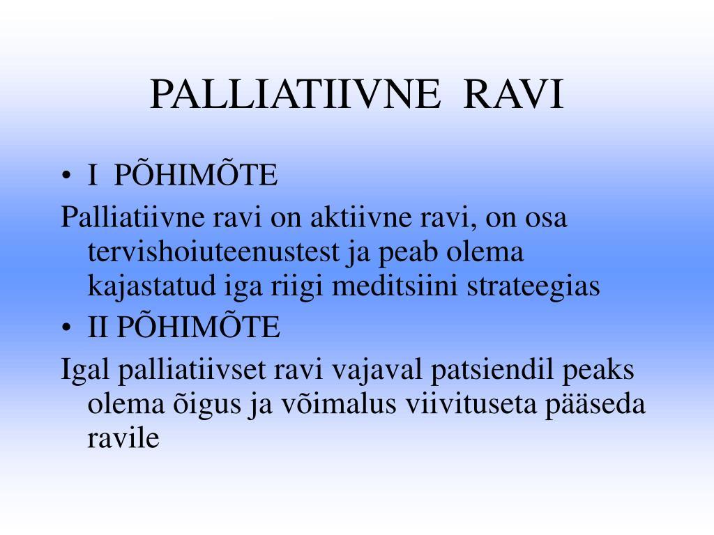 PALLIATIIVNE  RAVI