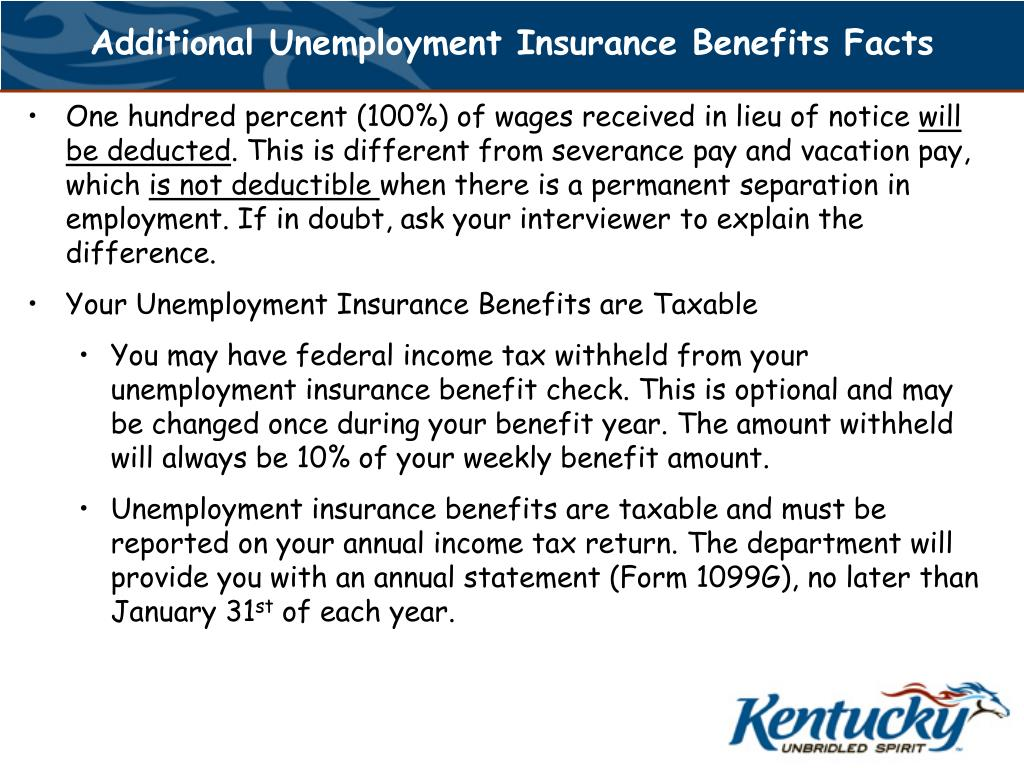 Additional Unemployment Insurance Benefits Facts