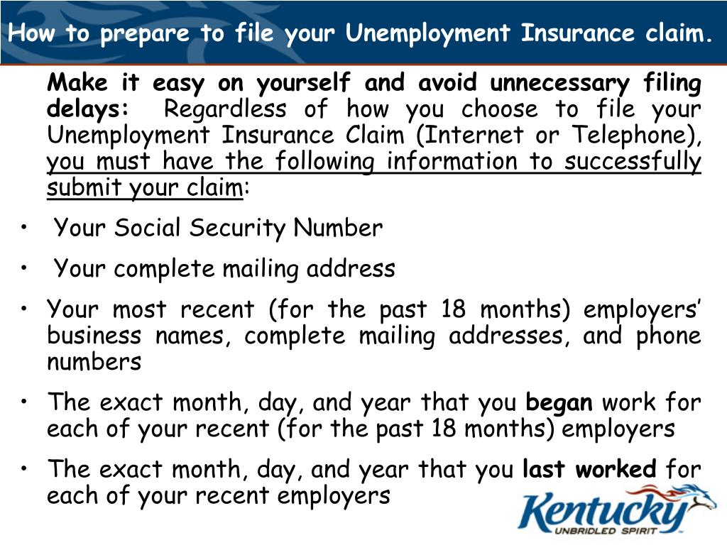 How to prepare to file your Unemployment Insurance claim.