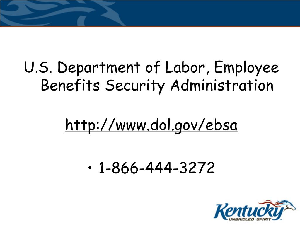 U.S. Department of Labor, Employee Benefits Security Administration