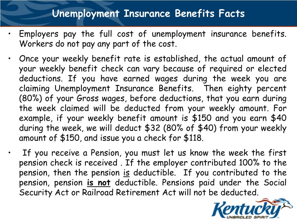 Unemployment Insurance Benefits Facts