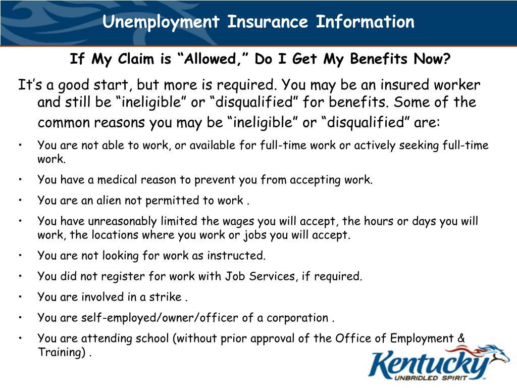 Unemployment Insurance Information
