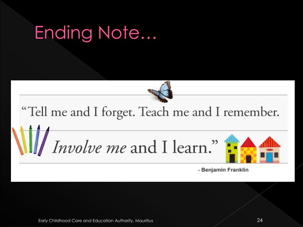 Ending Note…