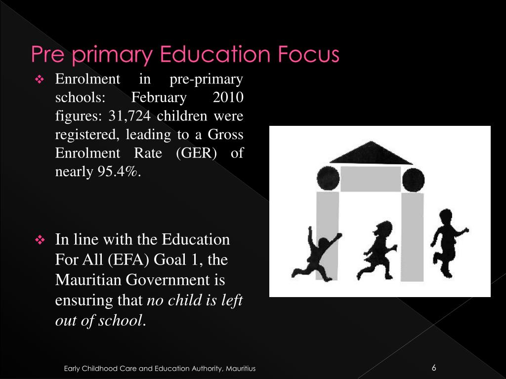 Pre primary Education Focus