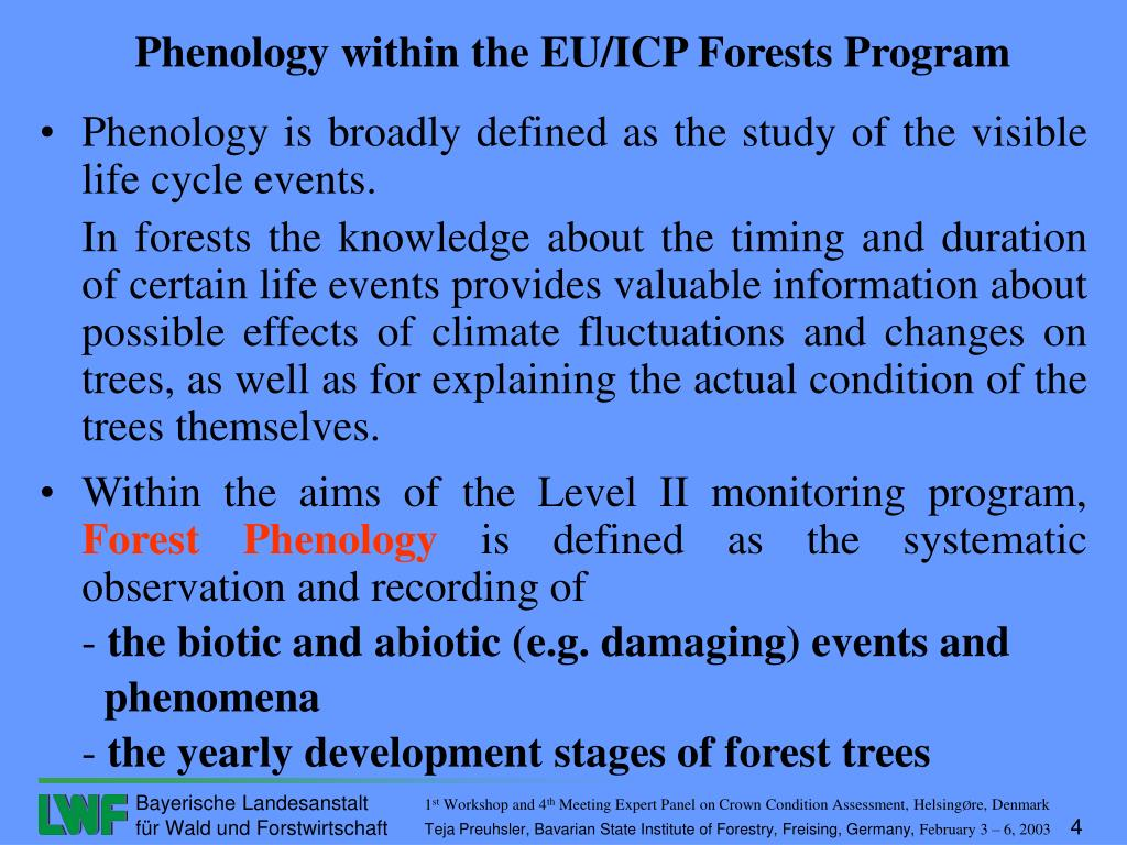 Phenology is broadly defined as the study of the visible life cycle events.