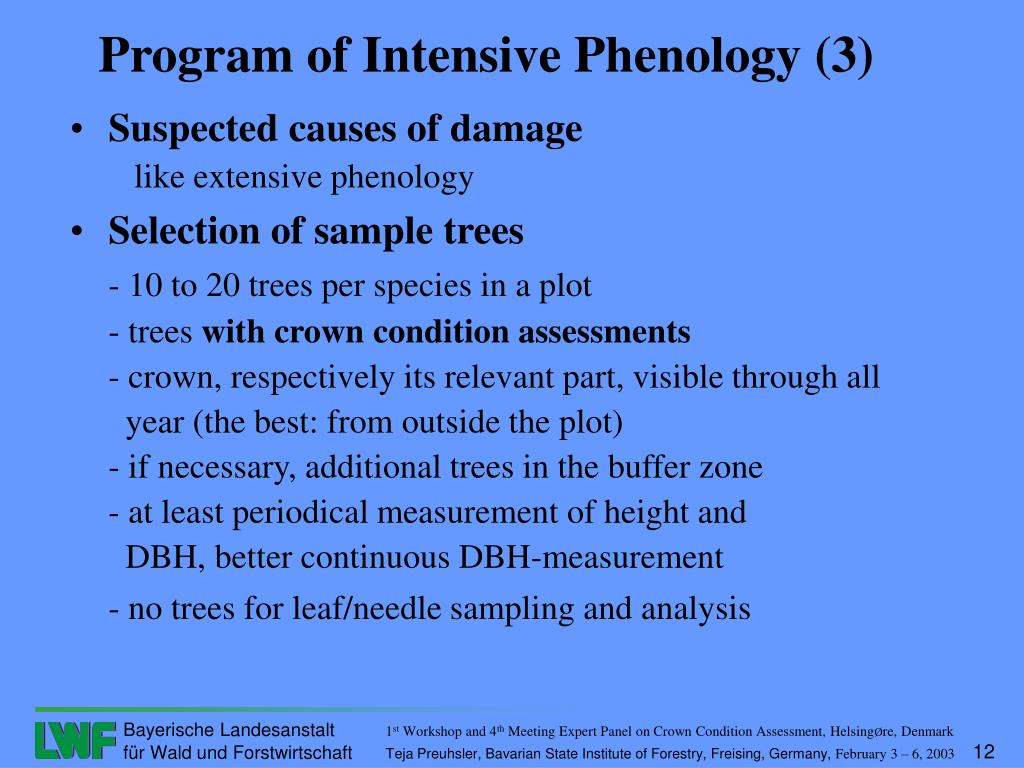 Suspected causes of damage