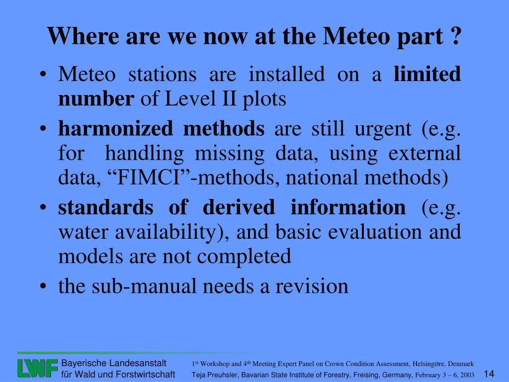Meteo stations are installed on a