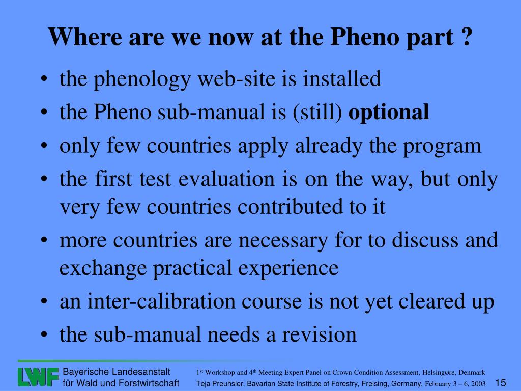 the phenology web-site is installed