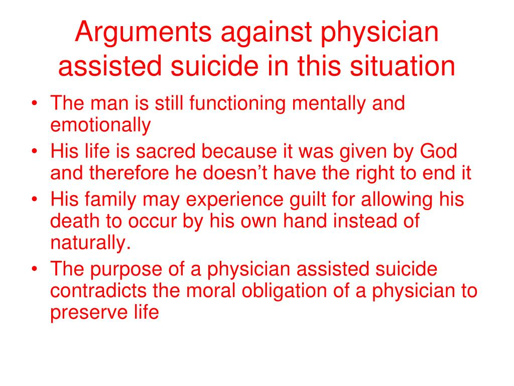 asssisted suicide Active euthanasia remained illegal everywhere, but the door had been opened a crack—and supporters of assisted suicide started pushing to open it further.