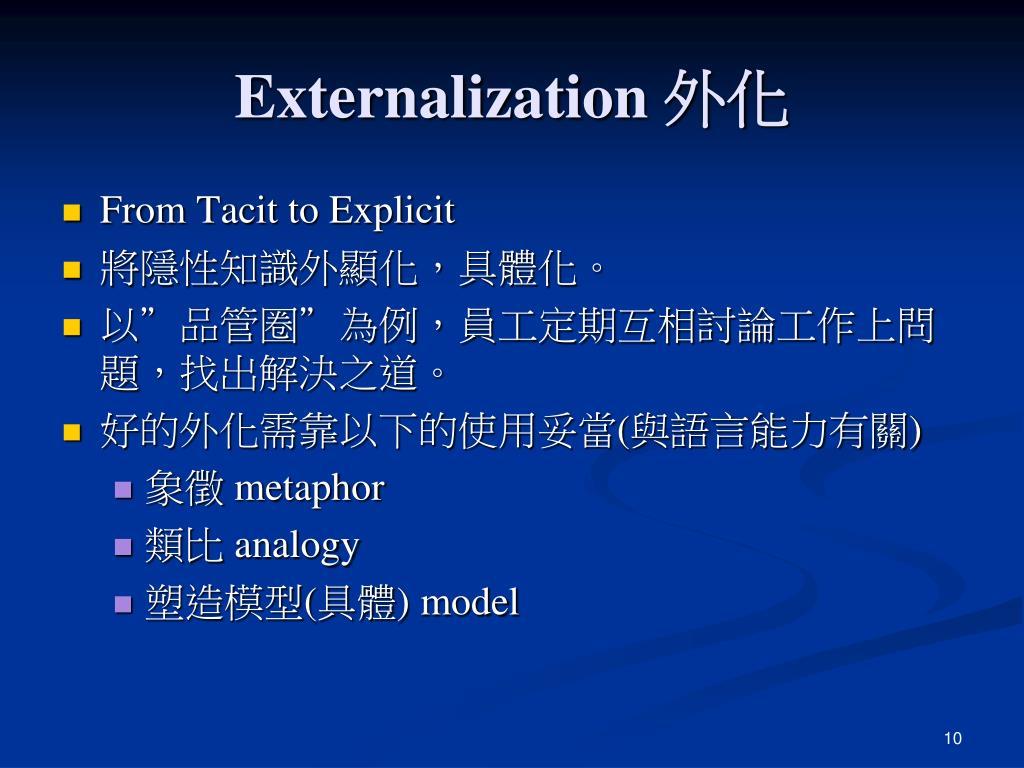Externalization