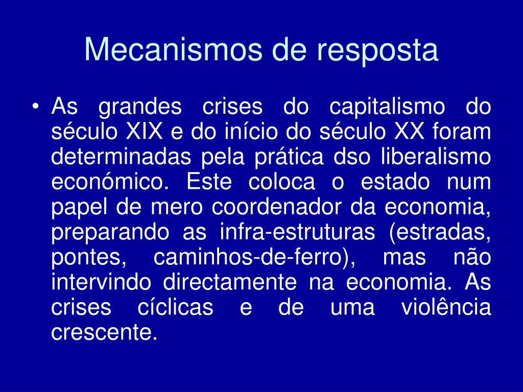 Mecanismos de resposta
