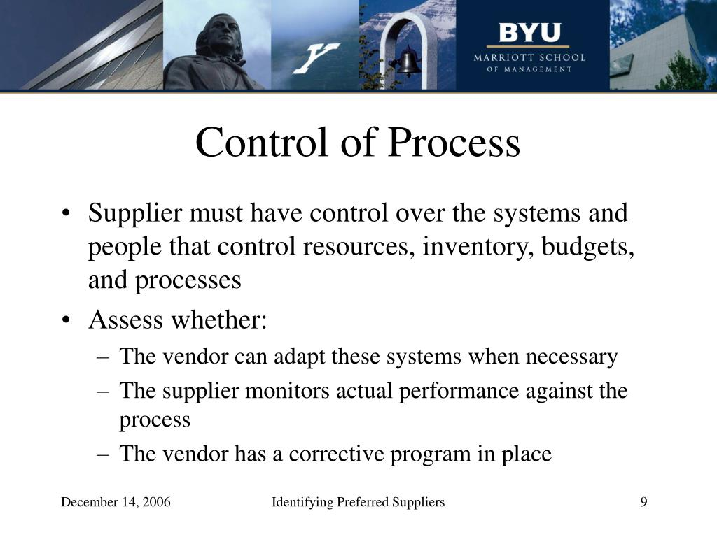 Control of Process