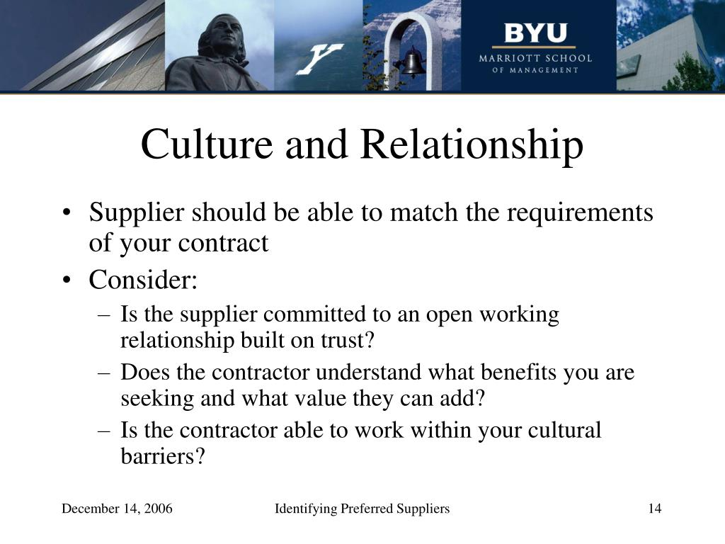Culture and Relationship