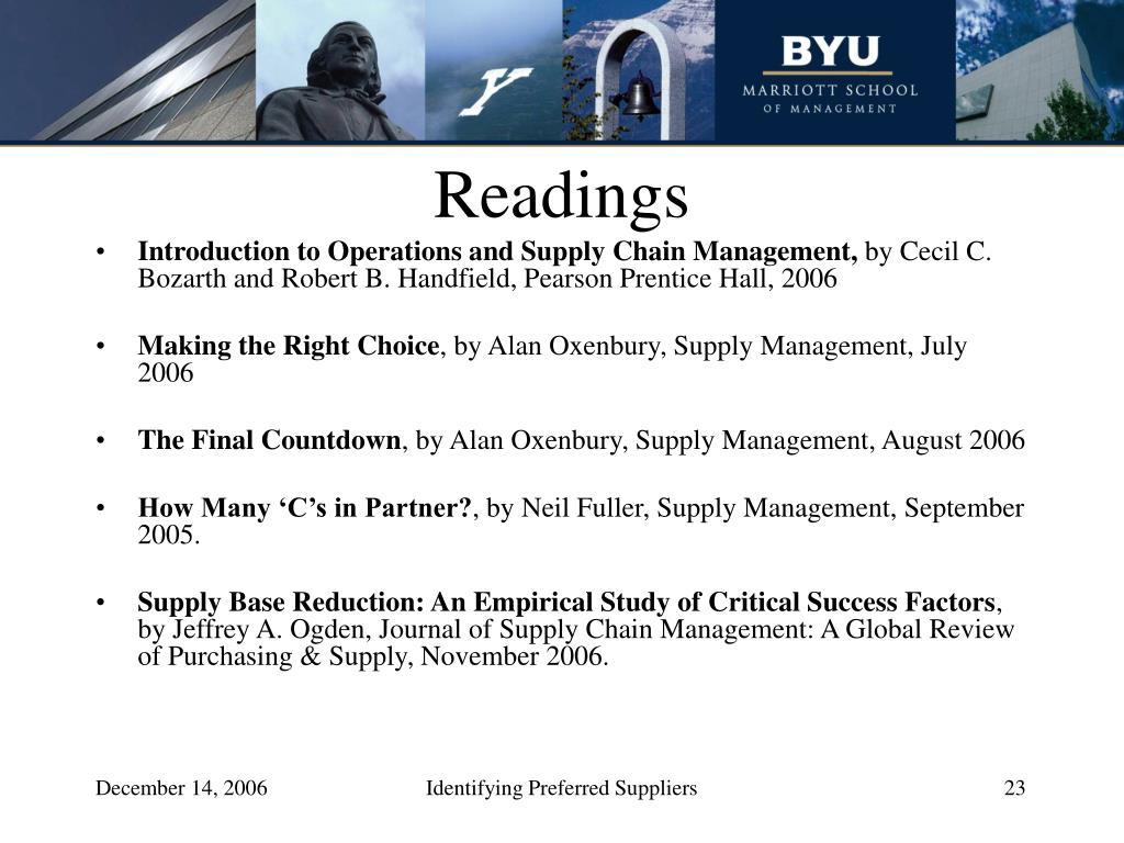 Readings