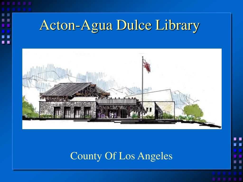 Acton-Agua Dulce Library