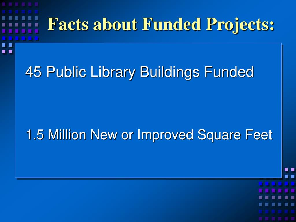 Facts about Funded Projects:
