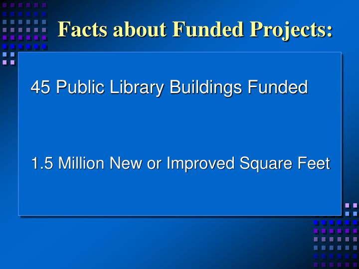 Facts about funded projects