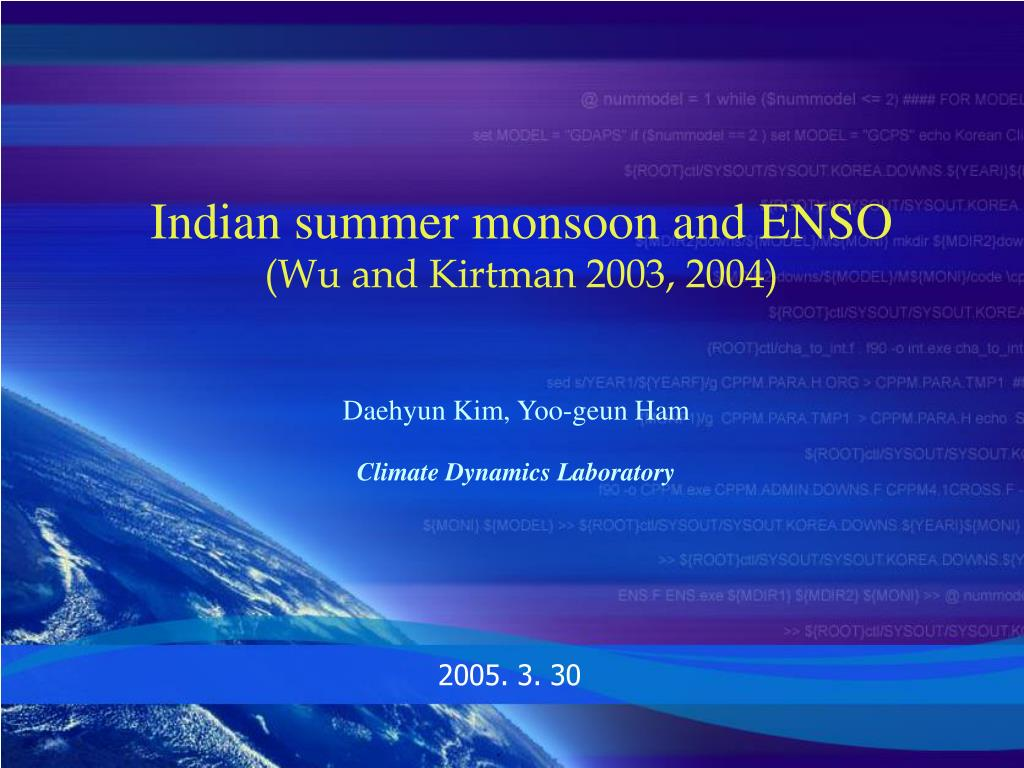 Indian summer monsoon and ENSO