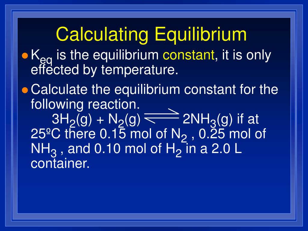 Calculating Equilibrium