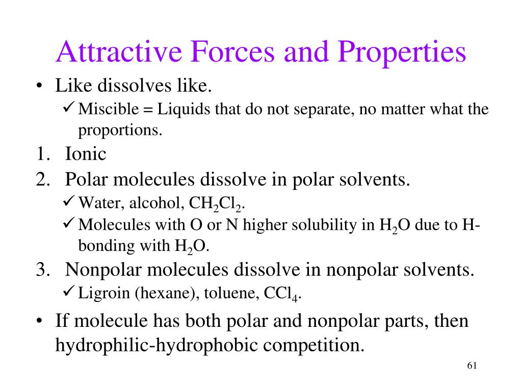Attractive Forces and Properties